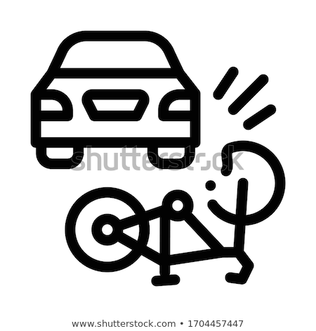 inverted car accident icon vector outline illustration Stock photo © pikepicture