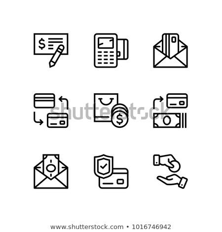 Pagamento soldi finanziare carta contanti vettore Foto d'archivio © karetniy