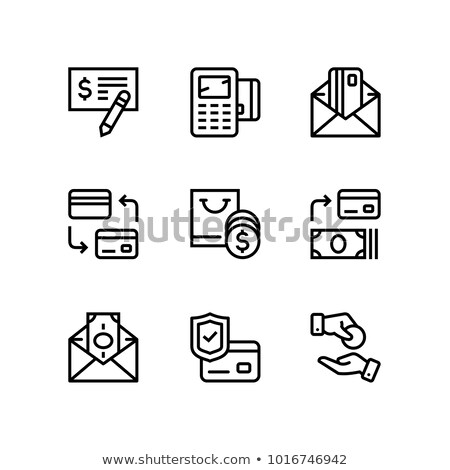 Pago dinero financiar tarjeta efectivo vector Foto stock © karetniy