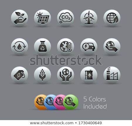 bio · carburant · couleur · vecteur · icônes - photo stock © palsur