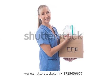 Verpleegkundige vak medische maskers globale Stockfoto © lovleah