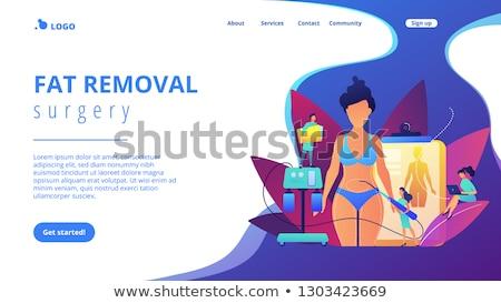 Liposuctie landing pagina plastic chirurg buis Stockfoto © RAStudio