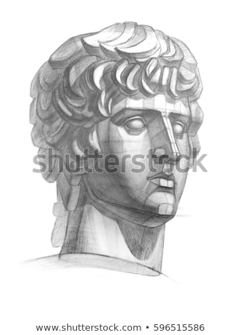 Antique antinous plaster bust, academic drawing Stock photo © evgeny89