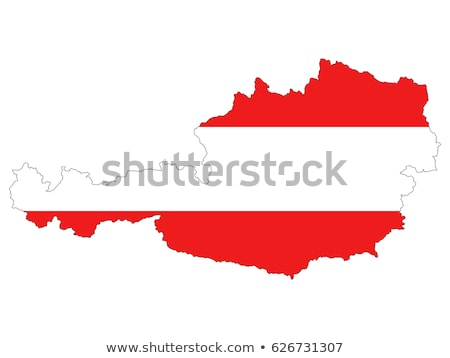 Austria país silueta bandera aislado blanco Foto stock © evgeny89