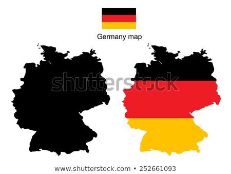Германия стране силуэта флаг изолированный белый Сток-фото © evgeny89