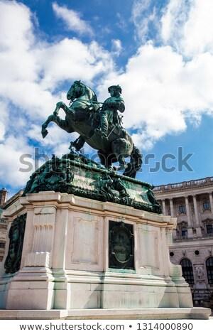 статуя император Вена Австрия небе лошади Сток-фото © joyr