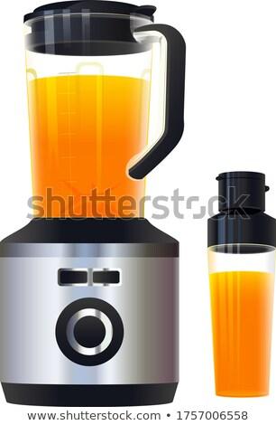 Zdrowych sok pomarańczowy miksera żywności Zdjęcia stock © orensila