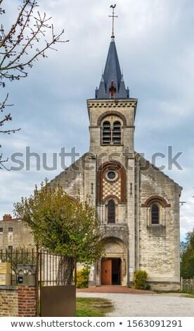 Protestante igreja França edifício viajar arquitetura Foto stock © borisb17