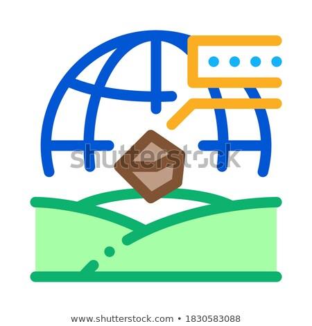 Toprak coğrafya ikon vektör örnek Stok fotoğraf © pikepicture