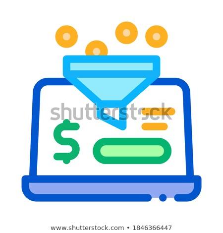Komputera konto ikona wektora ilustracja Zdjęcia stock © pikepicture