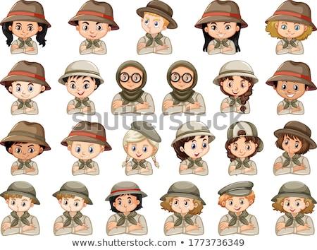 Conjunto diferente meninos meninas escoteiro Foto stock © bluering