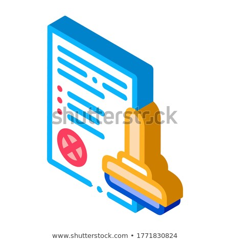 List Denial Stamp isometric icon vector illustration Stock photo © pikepicture