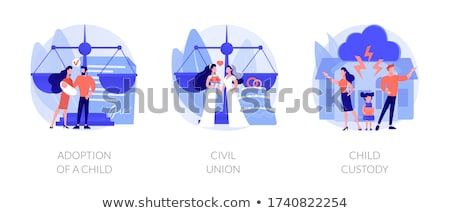 Child custody abstract concept vector illustrations. Stock photo © RAStudio