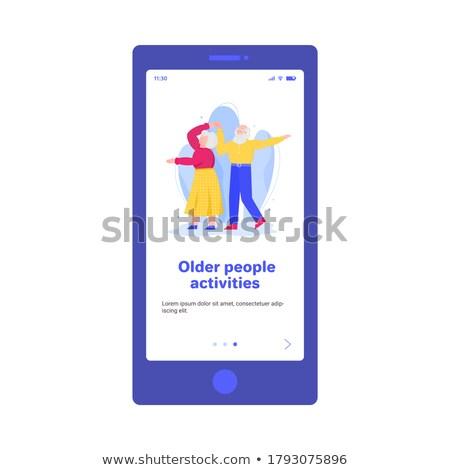 Holunder Menschen Aktivitäten App Schnittstelle Vorlage Stock foto © RAStudio