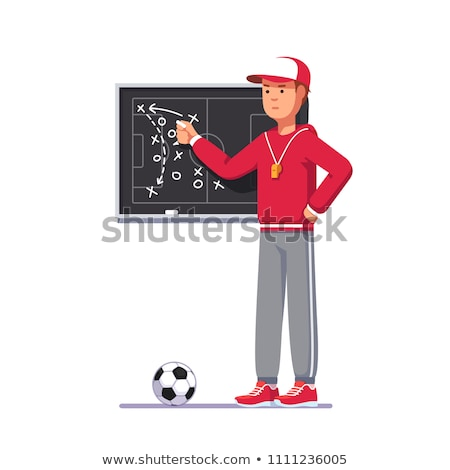 Man drawing a game strategy Stock photo © ivelin