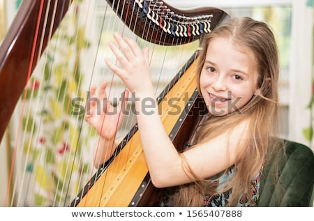 child harp stock photo © sahua