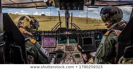 Kabina pilota wojskowych samolotów poziomy obraz kompas Zdjęcia stock © deyangeorgiev