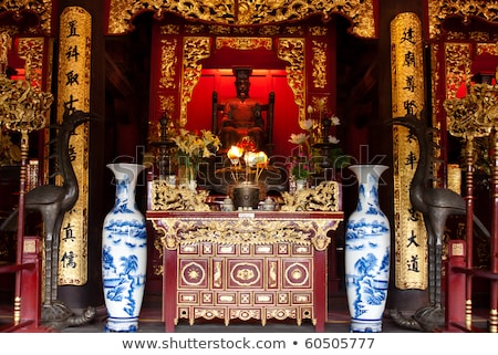 statue in temple in hanoi vietnam Stock photo © travelphotography