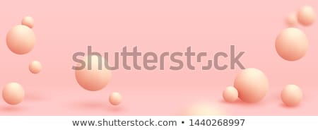 roze · 3D · bol · abstractie · wereldbol - stockfoto © FransysMaslo