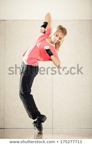 dancing woman in sportswear on tiptoe Stock photo © Paha_L