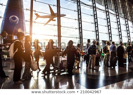 airport crowd stock photo © elenaphoto