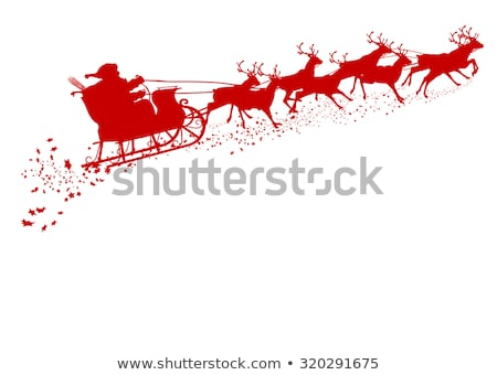 vector santa claus and rudolph deer stock photo © freesoulproduction