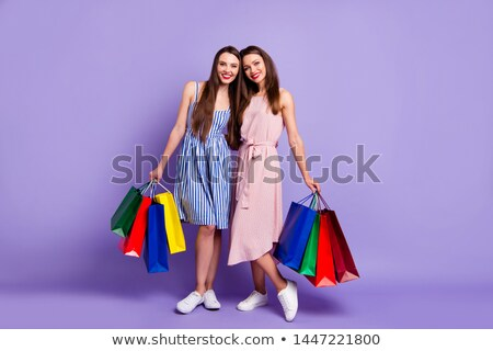 Coccolare shopping bag donna amore shopping ritratto Foto d'archivio © photography33