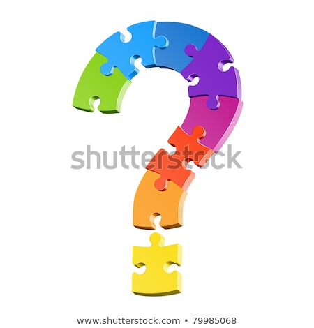Stock photo: Question mark and puzzle pieces