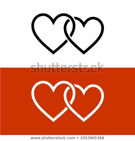 two hearts with chains stock photo © marinini
