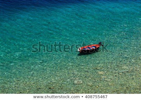 Roeiboot natuur groene Blauw meer rivier Stockfoto © LianeM