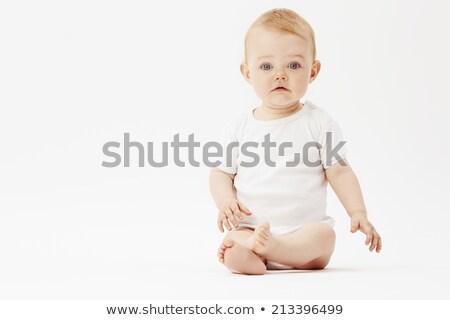 Bebek erkek üzgün ağlayan ay eski Stok fotoğraf © Dizski