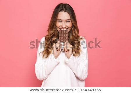 feminino · alimentação · saudável · noz · bar · mel · branco - foto stock © lovleah