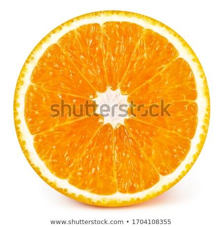 dois · seção · transversal · laranja · isolado · branco - foto stock © boroda