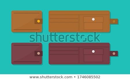 закрыто бумажник реалистичный кредитных карт белый Сток-фото © oblachko