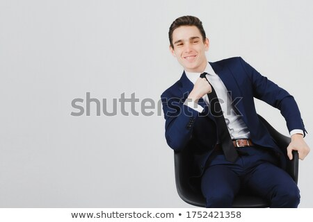 Young trainee sitting in armchair Stock photo © photography33
