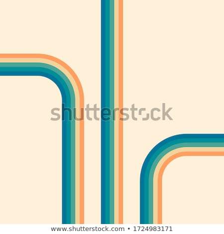 abstract rainbow line circles design template Stock photo © pathakdesigner