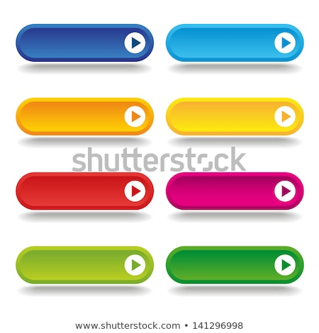 Stockfoto: Vector Colorful Long Web Buttons