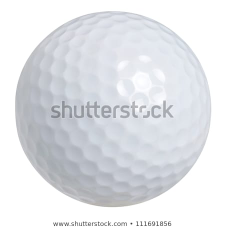 golf ball isolated on white stock photo © m_pavlov