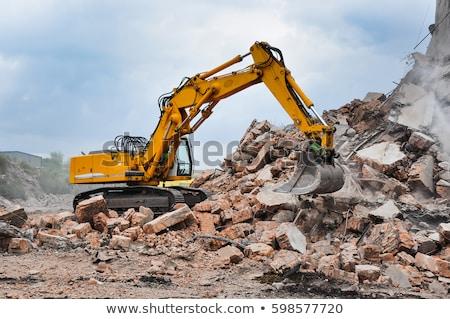 Bina yıkım işçi kaynak Metal ev Stok fotoğraf © jamdesign