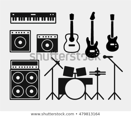 vector guitar and amp icon stock photo © tele52
