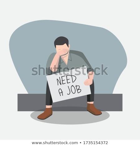 Stock fotó: Businessman A Need Job