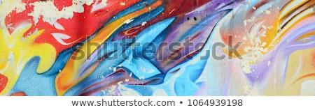 Grafite colorido artístico parede rua projeto Foto stock © ctacik