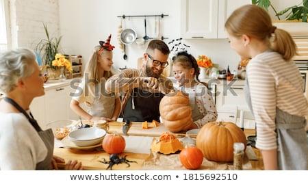 family at halloween stock photo © photography33