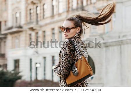 zarif · kadın · hayvan · baskı · şık - stok fotoğraf © stryjek
