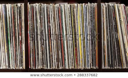 vinyl records collection stock photo © sirylok