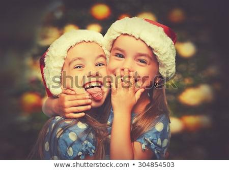 Happy child with Xmas decoration stock photo © Yaruta