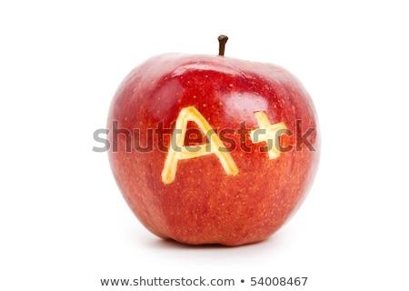 kırmızı · elma · öğrenme - stok fotoğraf © devon