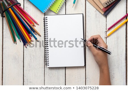 hand writing with a pencil   back to school stock photo © vlad_star