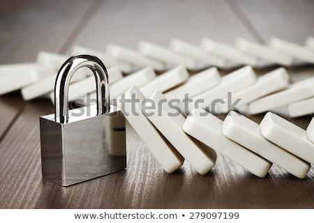 Stok fotoğraf: Domino · kilitlemek · iş · zarar · kontrol