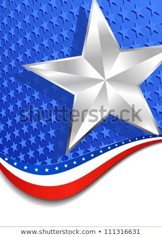 Gwiazdki portret srebrny star Zdjęcia stock © fenton